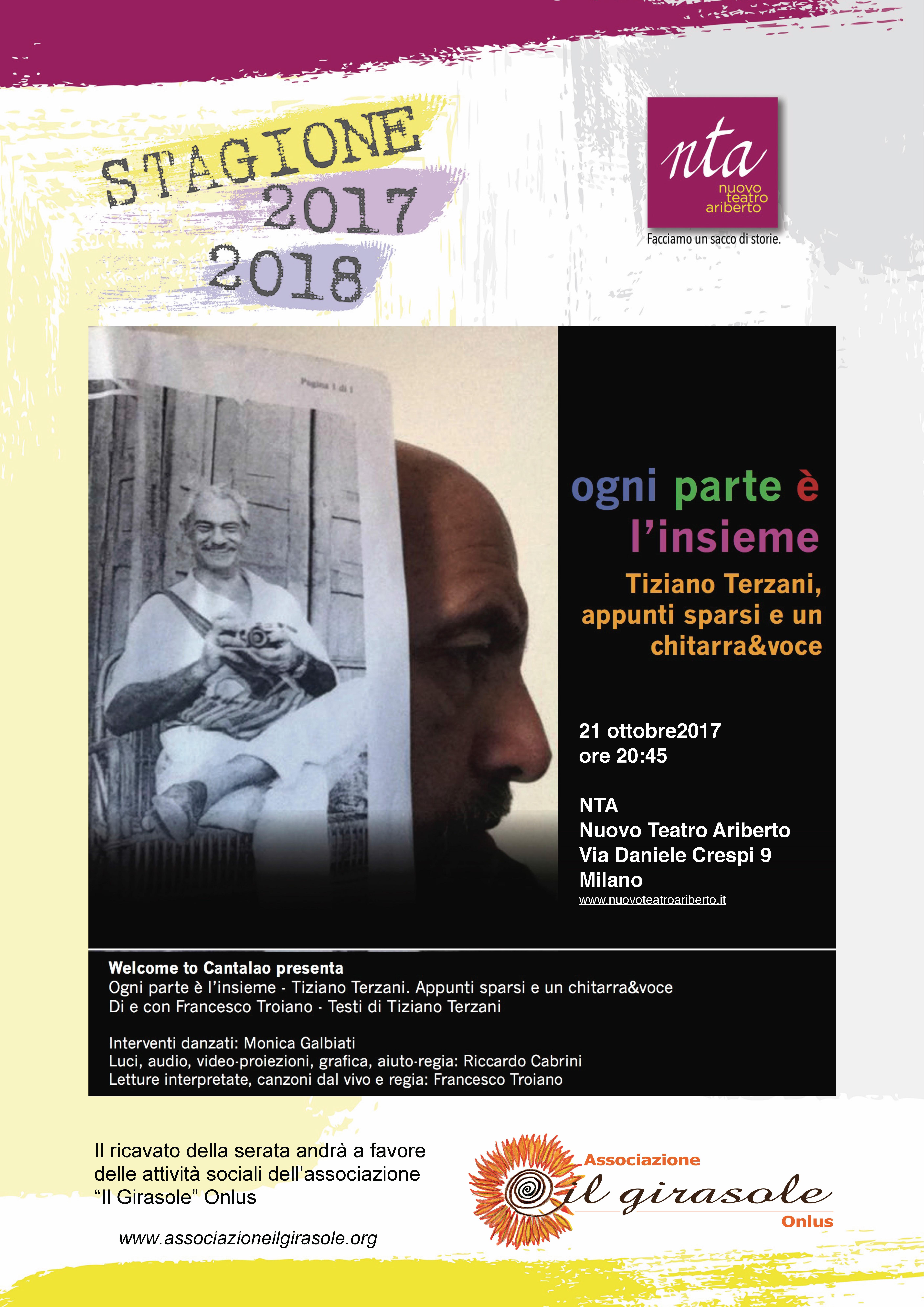 a teatro col Girasole: OGNI PARTE E' L'INSIEME